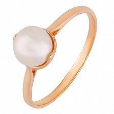 Золотое кольцо с жемчугом Динара