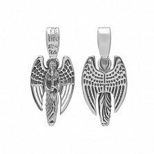 Серебряный подвес с чернением Ангел-хранитель