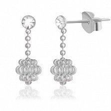 Серебряные серьги-подвески Долеей