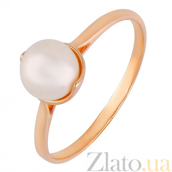 Золотое кольцо с жемчугом Динара SVA--1190804101/Жемчуг