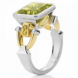 Кольцо Argile-Z с хризолитом и желтыми сапфирами