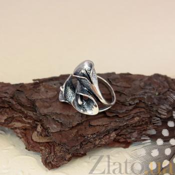 Серебряное кольцо Каллы с чернением 000080056