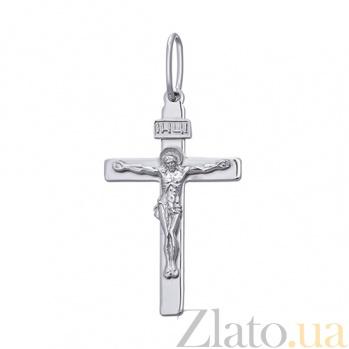 Крестик из серебра Воскресение Господне HUF--3115-Рин