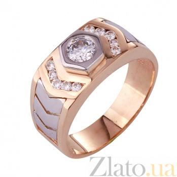 Золотое кольцо-печатка с фианитами Аскольд ONX--к02999