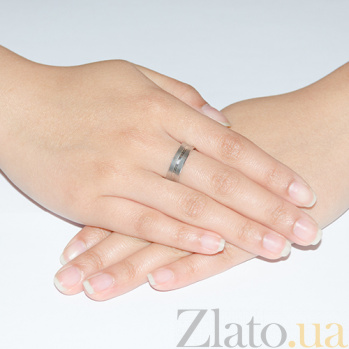 Золотое обручальное кольцо Романтичный подарок с бриллиантом TRF--4221214н