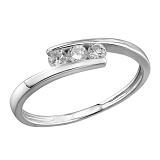 Кольцо из белого золота с бриллиантами Мелинда
