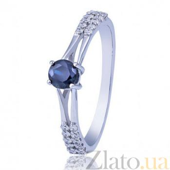 Золотое кольцо с сапфиром Принцесса Маргарет EDM--КД7462/1САПФИР
