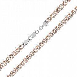 Серебряная цепь с позолотой, 6 мм 000026141