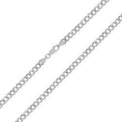 Серебряная цепочка с родием, 5 мм 000027907