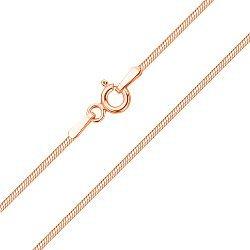 Цепочка из красного золота в плетении снейк, 1 мм 000003464