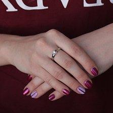 Кольцо из белого золота с бриллиантом Сказка о любви