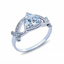 Серебряное кольцо с фианитами Дакота