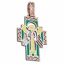 Золотой крестик Берегиня с эмалью
