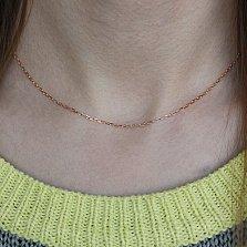 Золотая цепочка Элис в якорном плетении, 1мм