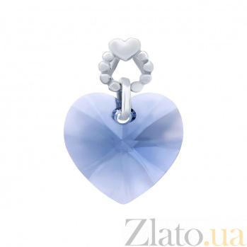 Подвеска серебряная с кристаллом Swarovski Сердце AQA--S231560111