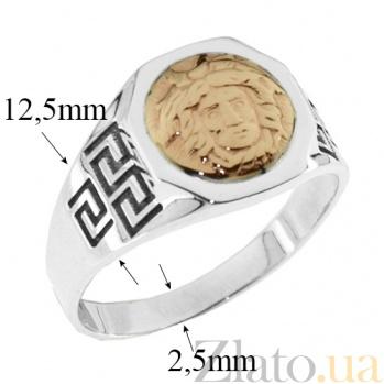Серебряное кольцо с золотой вставкой Адмирал BGS--420к
