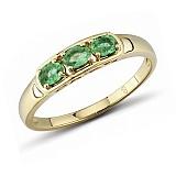 Кольцо из красного золота с изумрудами