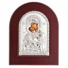 Владимирская икона Богоматери серебряная