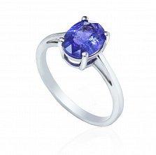 Серебряное кольцо Оливия с танзанитом