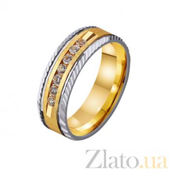 Золотое обручальное кольцо Мой идеал с дорожкой фианитов TRF--4521105