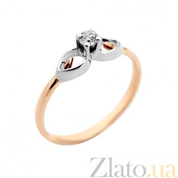 Золотое кольцо с бриллиантом Элизиум VLA--14760