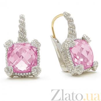 Серьги Ashkenazi с розовым кварцем E-JR-W-rqv02