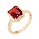 Кольцо в красном золоте Ванесса с гранатом