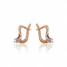 Золотые серьги Марика с бриллиантами
