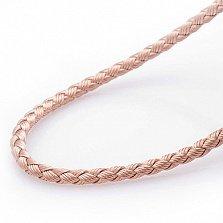 Шелковый шнурок Полет кремового цвета с серебряной застежкой