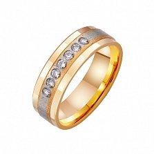 Золотое обручальное кольцо Dolce Vita с цирконием