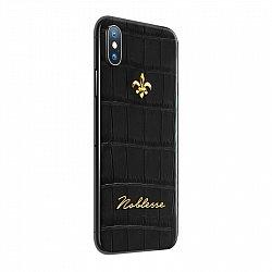 Apple IPhone X Noblesse CROCO BLACK в коже крокодила черного цвета и золоте