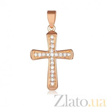 Серебряный крестик с фианитами Тереза 000028696