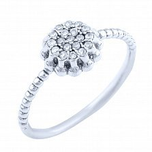 Серебряное кольцо Маргарет с фианитами