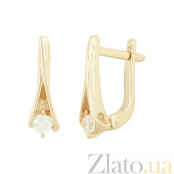 Золотые серьги с фианитами Андреа 2С220-0215