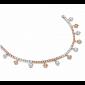 Браслет Argile с бриллиантами и розовыми сапфирами B-cjAr-W/R-104s-102d