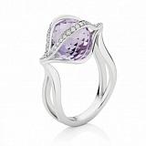 Кольцо Argile-Z с аметистом и бриллиантами