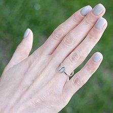 Серебряное кольцо Серебристый холодный кофе с зернышком