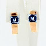 Золотые серьги Аделина с голубыми топазами