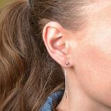 Серебряные серьги-цепочки Имидж