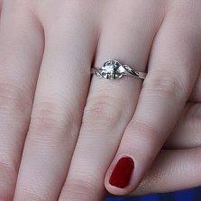 Серебряное кольцо Лаура с фианитом