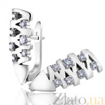 Золотые серьги с бриллиантами Шарм EDM--С7506/1