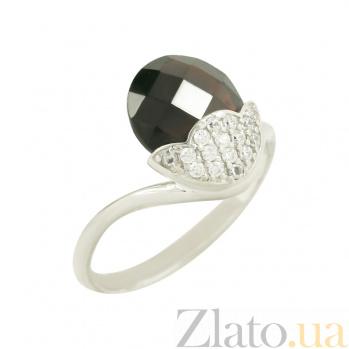 Золотое кольцо с гранатом и фианитами Одилия 2К765-0011