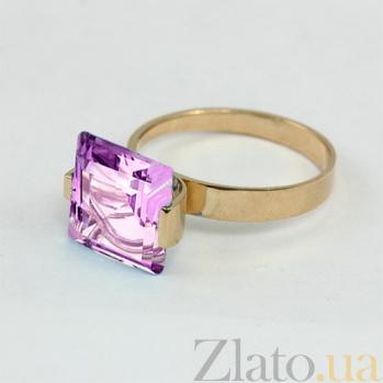 Золотое кольцо с аметистом Ирма 000029216