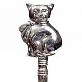 Серебряная погремушка Котик