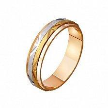 Золотое обручальное кольцо Amour Sincere