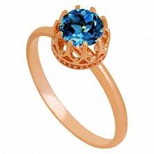Золотое кольцо Хелена с топазом лондон