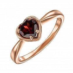 Кольцо из красного золота с гранатом 000135021