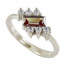 Серебряное кольцо Таира с синтезированным александритом и фианитами