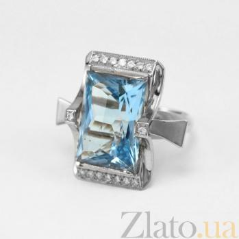 Золотое кольцо с топазом и фианитами Сан-Франциско VLN--112-606-1**