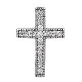 Золотой крестик с бриллиантами Истина